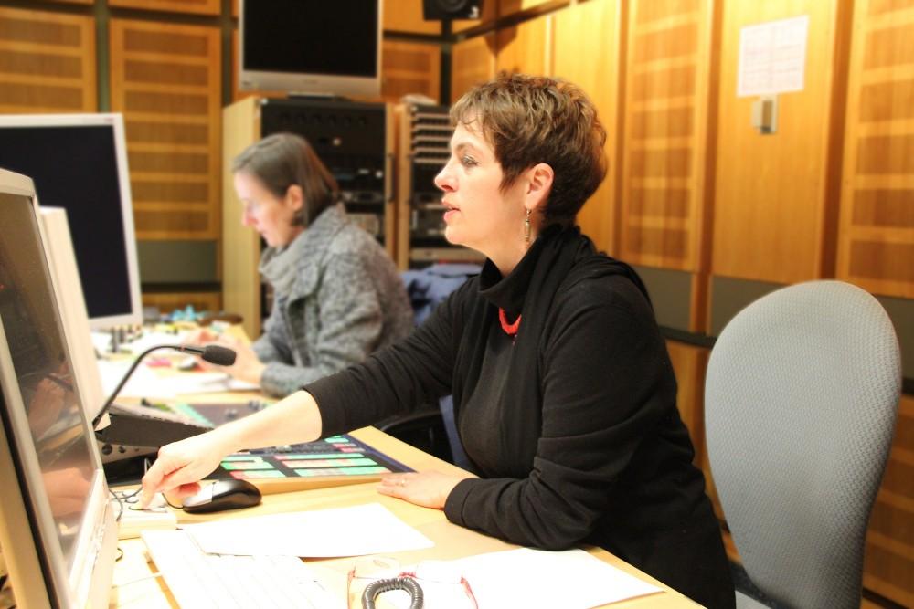 Melitta Müller-Hansen im Studio