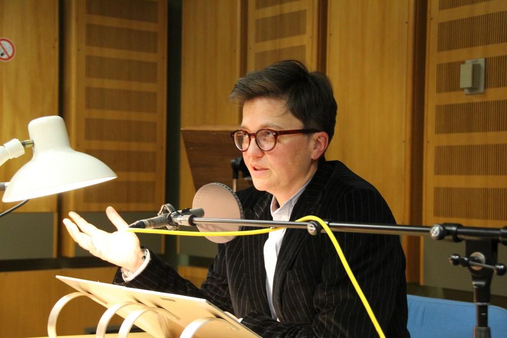 Sandra Zeidler coacht die Sprecherin